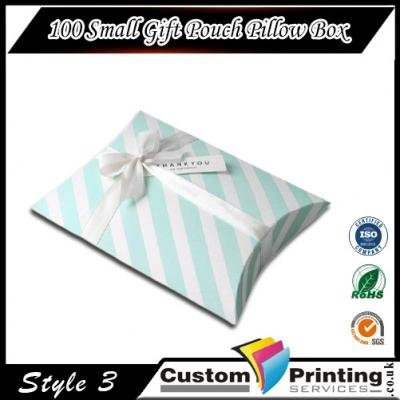 100 Small Gift Pouch Pillow Box Printing