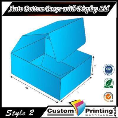 Auto Bottom Boxes with Display Lid Printing
