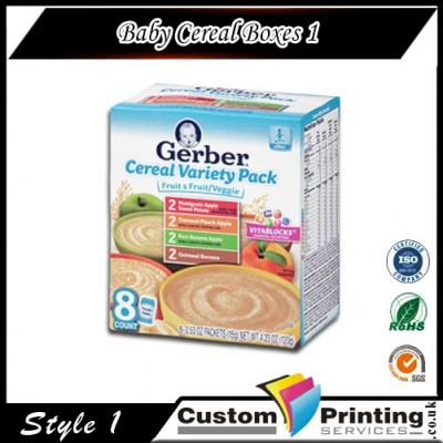 Baby Cereal Boxes printing