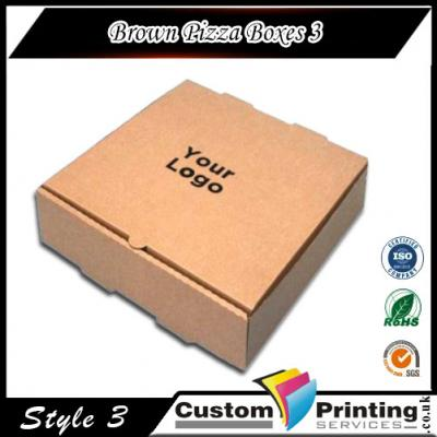 Brown Pizza Boxes printing