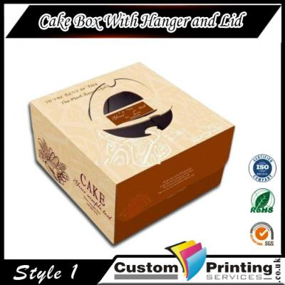 Cake Box With Hanger and Lid Printing