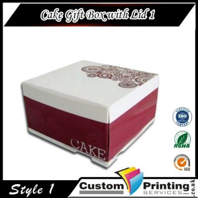 Cake Gift Box with Lid Printing