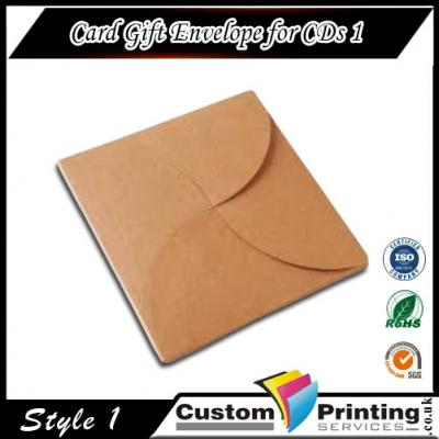 Card Gift Envelope for CDs Printing