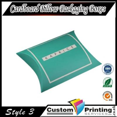 Cardboard Pillow Packaging Boxes Printing