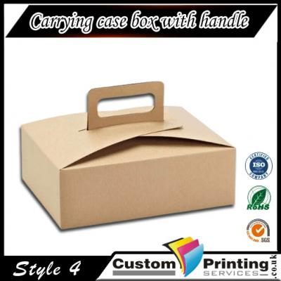 Carrying case box with handle Printing
