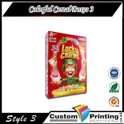 Colorful Cereal Boxes Printing