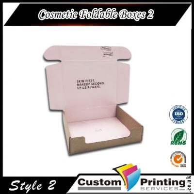 Cosmetic Foldable Boxes Printing
