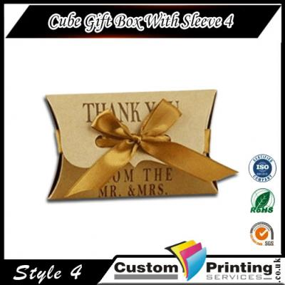 Cube Gift Box With Sleeve Printing
