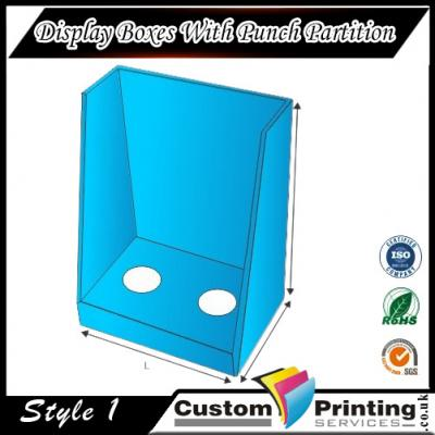 Display Boxes With Punch Partition Printing