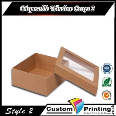 Disposable Window Boxes printing