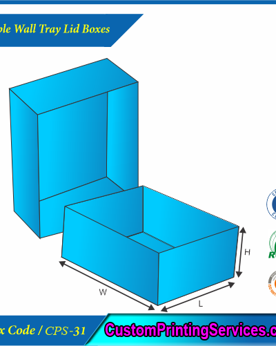 Double Wall Tray Lid Boxes