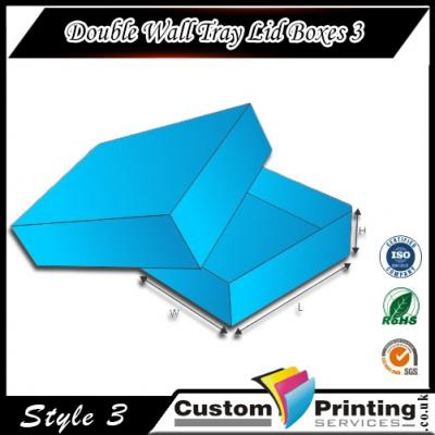 Double Wall Tray Lid Boxes printing