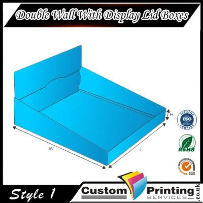 Double Wall With Display Lid Boxes Printing