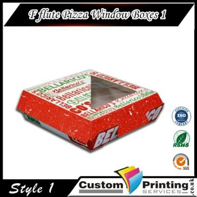 F-flute Pizza Window Boxes Printing