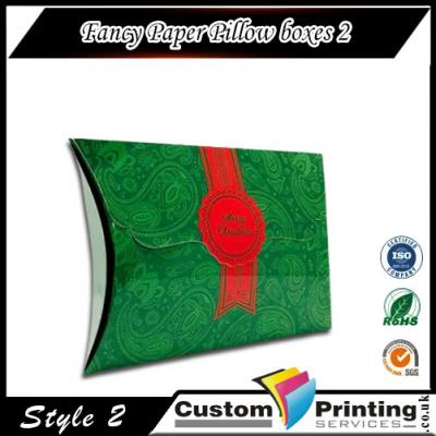 Fancy Paper Pillow boxes Printing