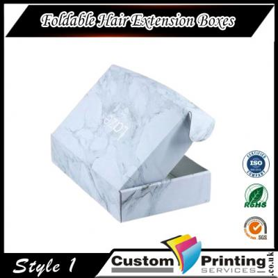 Foldable Hair Extension Boxes Printing