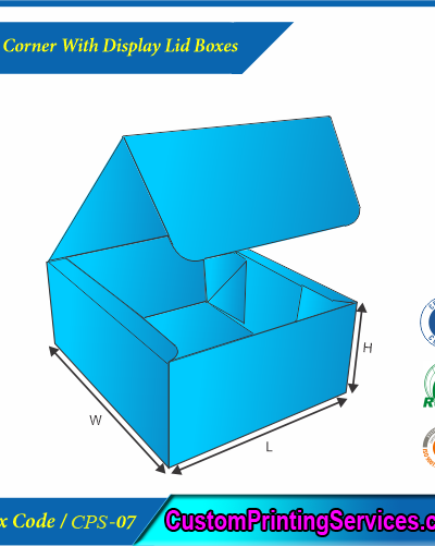 Four Corner With Display Lid Boxes