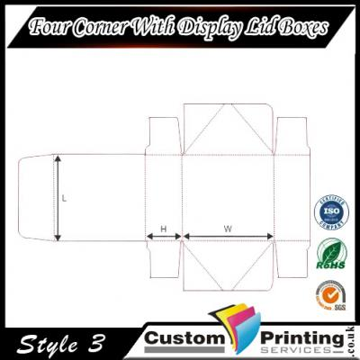 Four Corner With Display Lid Boxes Printing