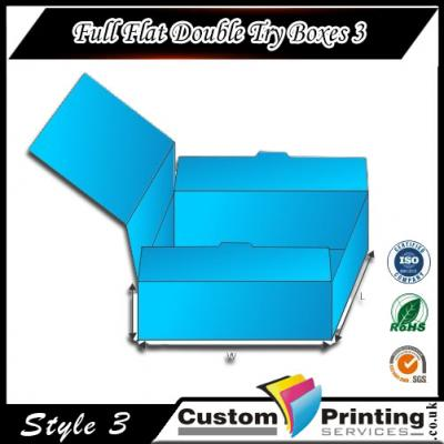 Full Flat Double Try Boxes Printing