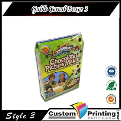Gable Cereal Boxes Printing