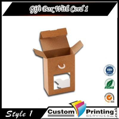 Gift Box With Cord Printing