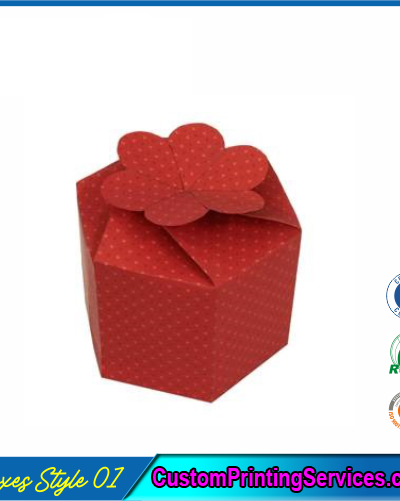 Gift Boxes With Flower Clasp