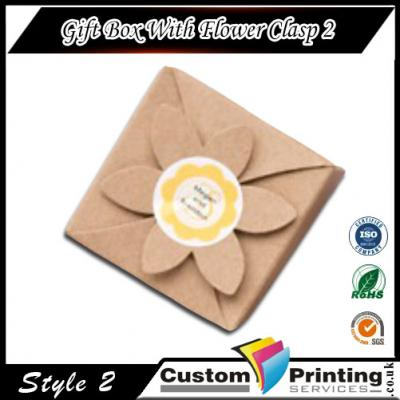 Gift Box With Flower Clasp Printing