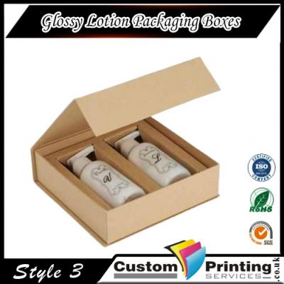 Glossy Lotion Packaging Boxes Printing