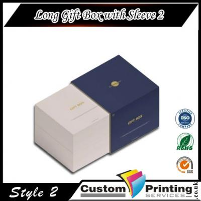Long Gift Box with Sleeve Printing