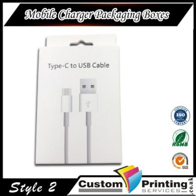 Mobile Charger Packaging Boxes Printing