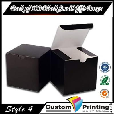 Pack of 100 Black Small Gift Boxes Printing