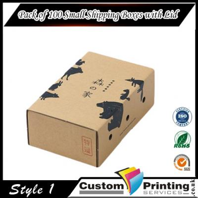 Pack of 100 Small Shipping Boxes with Lid Printing