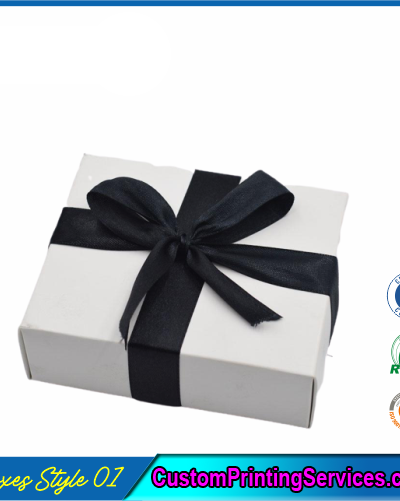 Pack of 100 White Small Gift Boxes with Ribbon