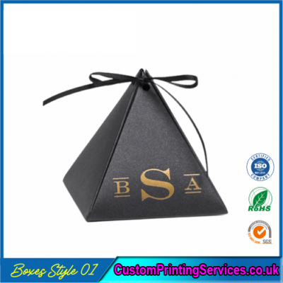 Personalized Pyramid Favor Boxes
