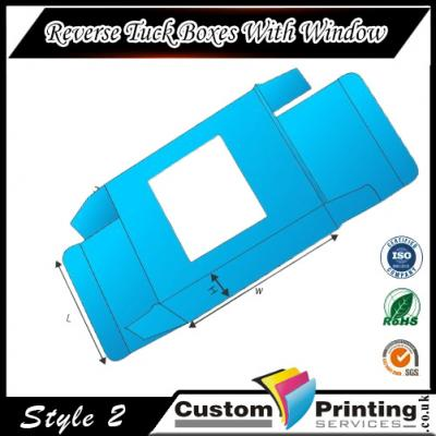 Reverse Tuck Boxes With Window Printing