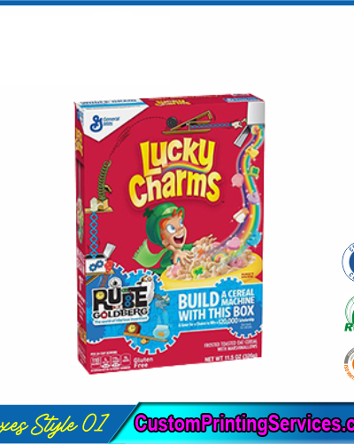 Rube Goldberg Cereal Boxes