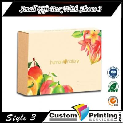 Small Gift Box With Sleeve Printing
