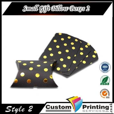 Small Gift Pillow Boxes Printing