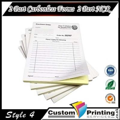 2 Part Carbonless Forms | 2 Part NCR Printing