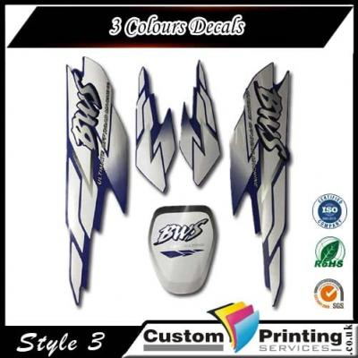 3 Colours Decals Printing