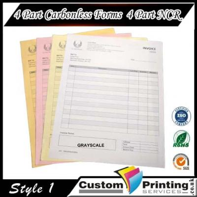4 Part Carbonless Forms | 4 Part NCR Printing
