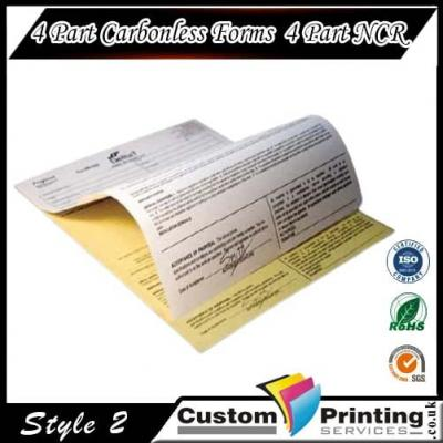 4 Part Carbonless Forms   4 Part NCR Printing
