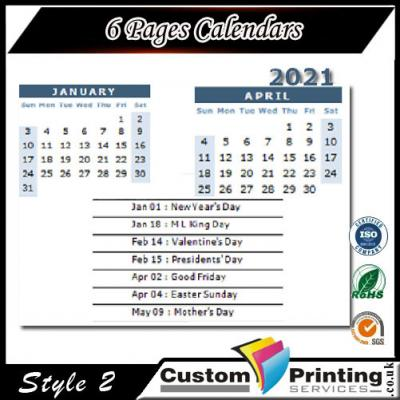 6 Pages Calendars 2