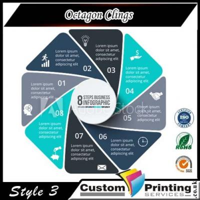 Octagon Clings Printing