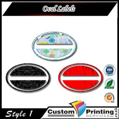 Oval Labels Printing