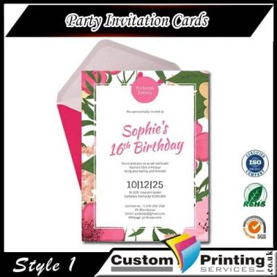 Party Invitation Cards Printing