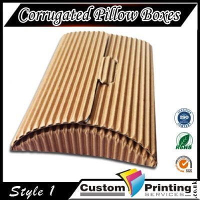 Corrugated Pillow Boxes Printing