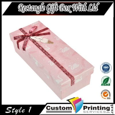 Rectangle gift box with lid